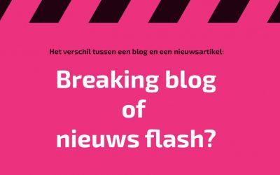 Het verschil tussen een blog en een nieuwsartikel