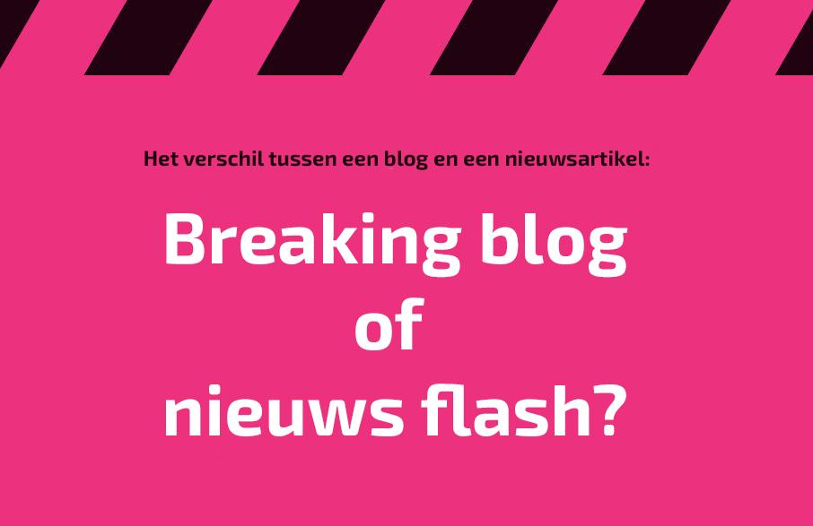 Breaking blog